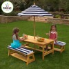 Kidkraft Outdoor Table and Benches with Cushions and Parasol