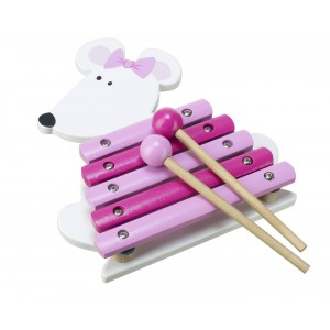 Orange Tree Toys Pink Mouse Xylophone