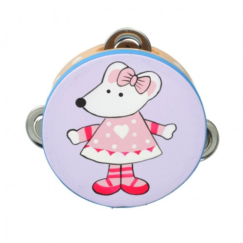 Orange Tree Toys Pink Mouse Tambourine