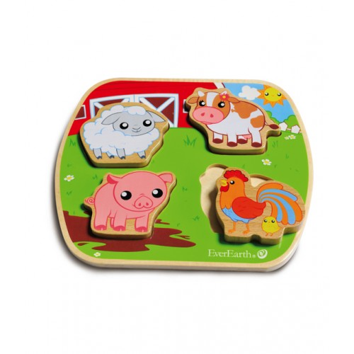 EverEarth Farm Wooden Puzzle