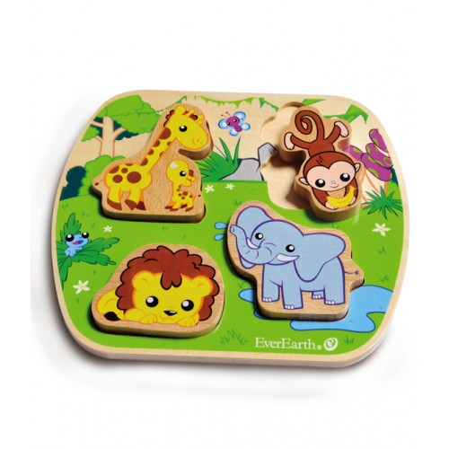 EverEarth Safari Wooden Puzzle