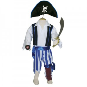 Pirate Costume with Peg Leg