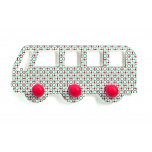 Djeco Wooden Bus Coat Hooks