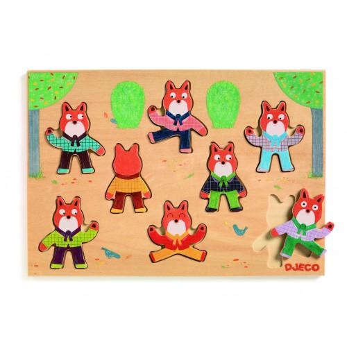 Djeco Wooden Position Puzzle Foxymatch