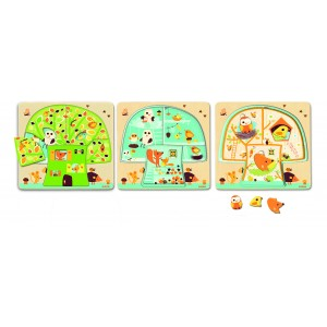 Djeco Chez-nut Multi Layered Puzzle