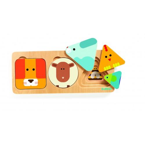 Djeco Animal Basic Wooden Puzzle