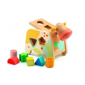 Djeco Cachatou Cow Shape Sorting Box