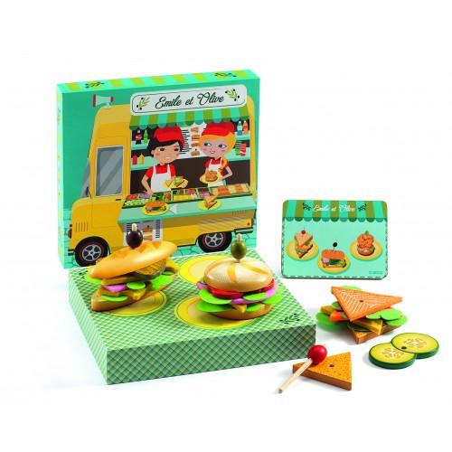 Djeco Emile et Olive Sandwich Set