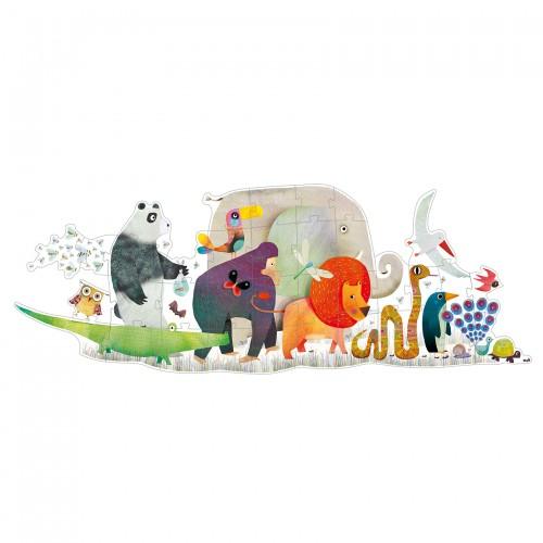 Djeco Giant Animal Parade Jigsaw Puzzle