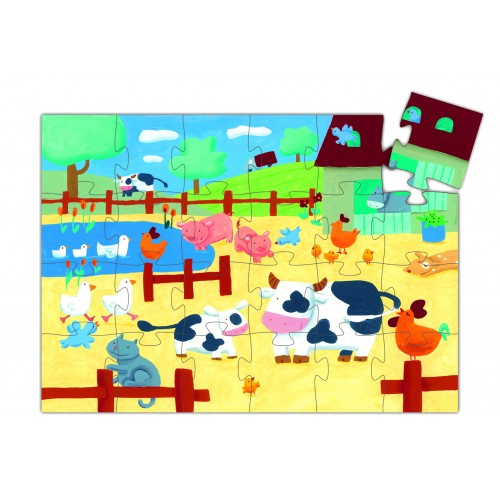 Djeco Cows on The Farm Jigsaw