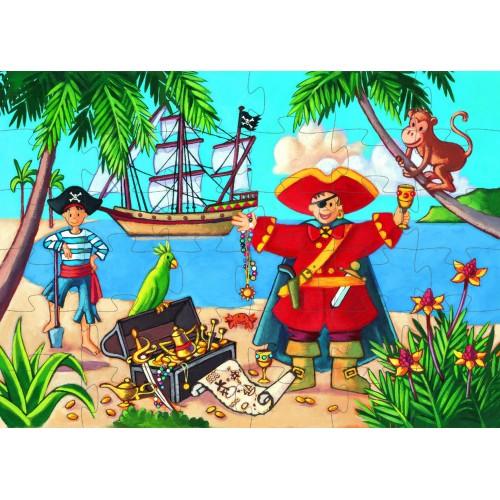 Djeco Pirate and His Treasure Jigsaw Puzzle