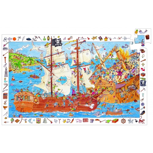 Djeco Pirate Observation Jigsaw 100pcs