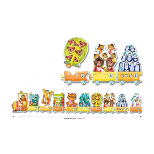 Djeco I Count Animal Train Jigsaw Puzzle