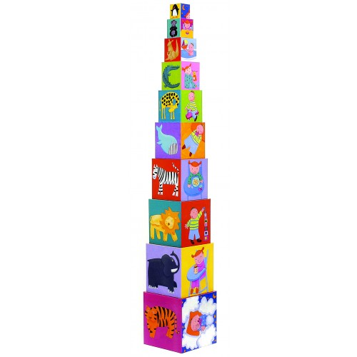 Djeco Funny Stacking Cubes Blocks