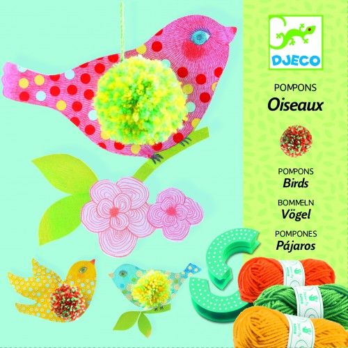 Djeco Birds Pompoms Craft Set