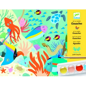 Djeco Art by Numbers Gouaches - Natural World