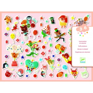 Djeco Baby Animals Puffy Stickers
