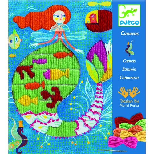 Djeco Embroidery Stitches Mermaid