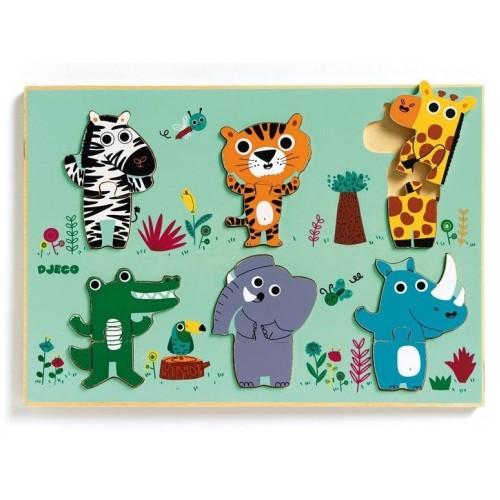 Djeco Coucou-croco Safari Animal Puzzle