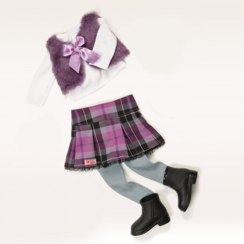 Our Generation A Taid Plaid Outfit