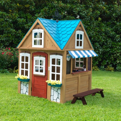 kidkraft seaside cottage outdoor playhouse kidkraft wooden outdoor playhouse. Black Bedroom Furniture Sets. Home Design Ideas