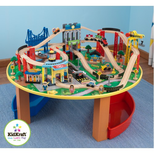 Kidkraft City Exploreru0027s Train Set And Table