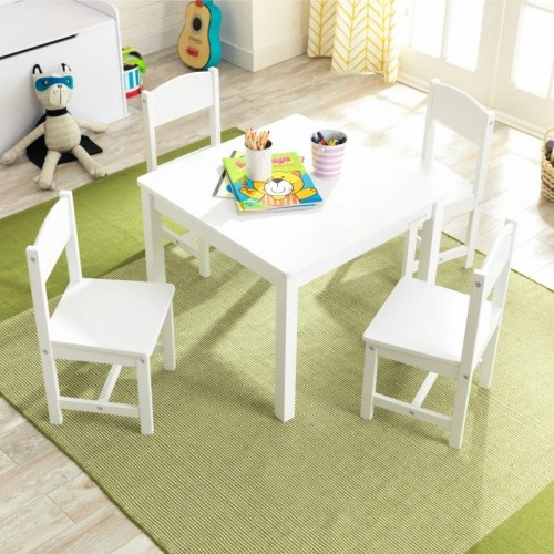 Kidkraft Farmhouse Table and 4 Chairs - White