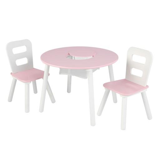 Kidkraft Pink Round Storage Table And Chair Set Kidkraft