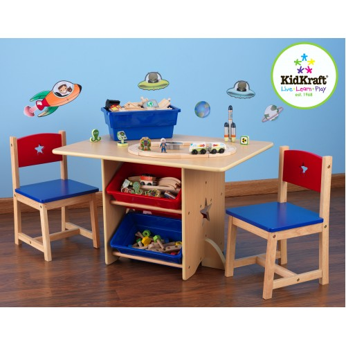 Kidkraft Star Play Table with storage boxes