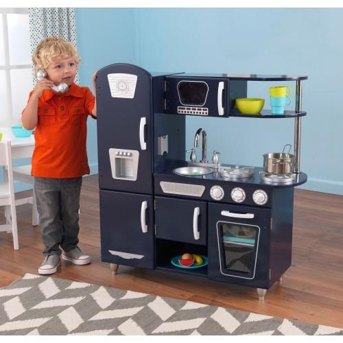 Kidkraft Vintage Kitchen In Blue 53227: Kidkraft Navy Blue Vintage Kitchen