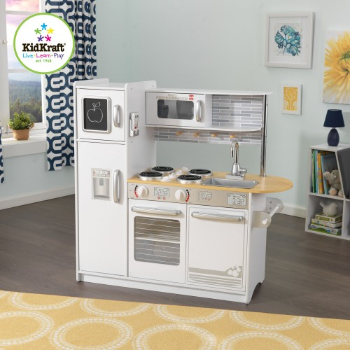 Uptown White Espresso Play Kitchen
