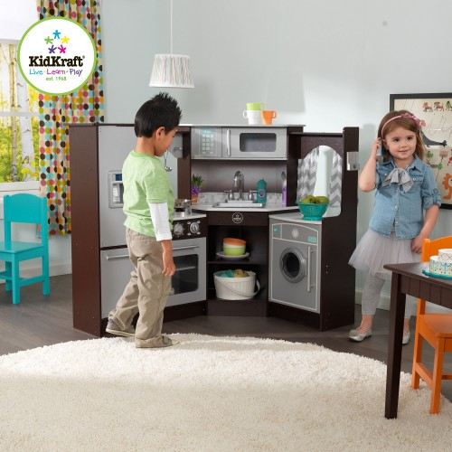 Kidkraft Corner Kitchen: Kidkraft Ultimate Corner Play Kitchen With Sounds And