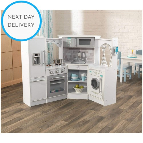 Kidkraft White Ultimate Corner Play Kitchen with Lights & Sounds