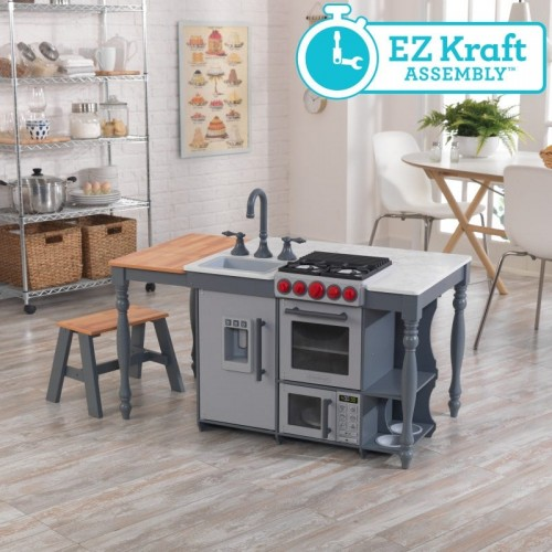 Kidkraft Chef's Cook N Create Island Play Kitchen with EZ Kraft Assembly ™