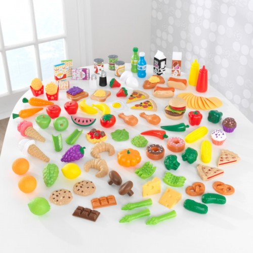 Kidkraft Deluxe Tasty Treats Pretend Play Food Set