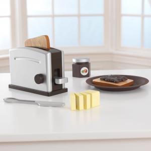 Kidkraft Espresso Wooden Toaster Set
