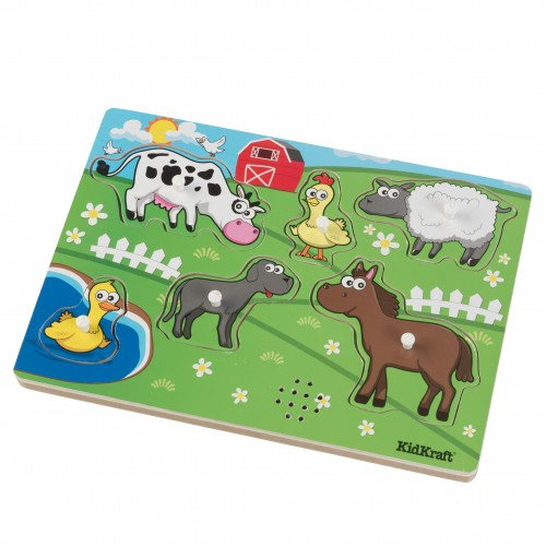 Kidkraft Farm Barnyard Animals Sound Puzzle