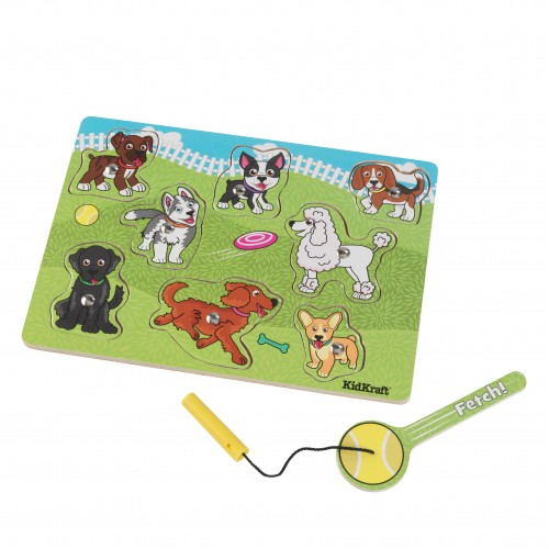 Kidkraft Dog Park Magnetic Wooden Puzzle