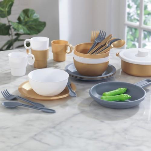 Kidkraft Modern Metallics™ 27-Piece Cookware Set