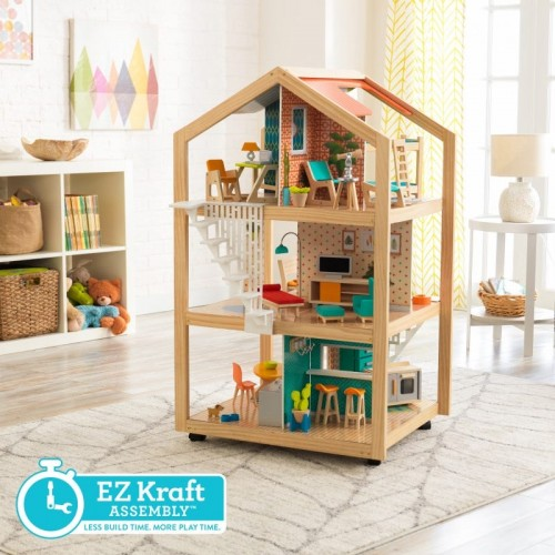 Kidkraft So Stylish Mansion Dollhouse with EZ Kraft Assembly™