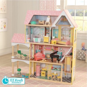 Kidkraft Lola Mansion Dollhouse with EZ Kraft Assembly™