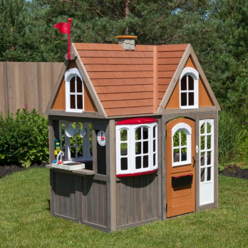 Kidkraft Greystone Cottage Playhouse with EZ Kraft Assembly™