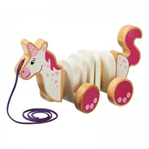 Lanka Kade Wooden Unicorn Pull Along