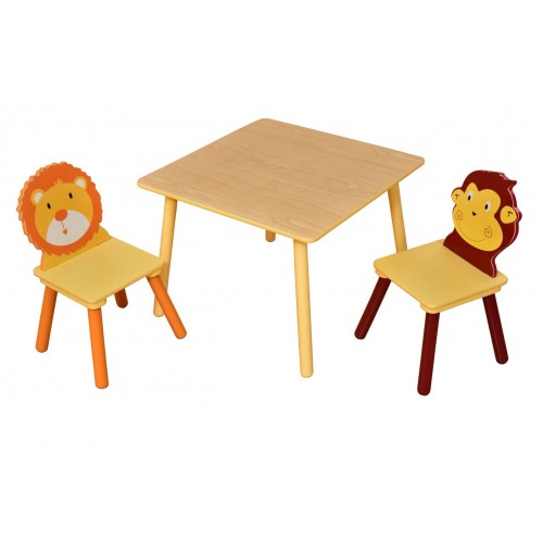 Jungle Square Table and Animal Chairs