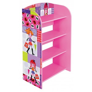 Liberty House Toys Fashion Girl 4 Tier Bookcase