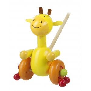 Orange Tree Toys Push Along Giraffe