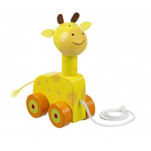 Orange Tree Toys Pull Along Giraffe Toy