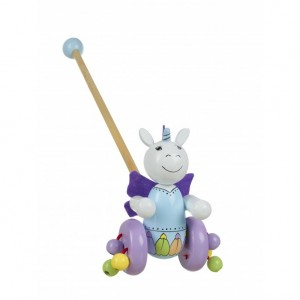Orange Tree Toys Unicorn Wooden Push Along