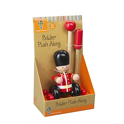 Orange Tree Toys Soldier Wooden Push Along Toy