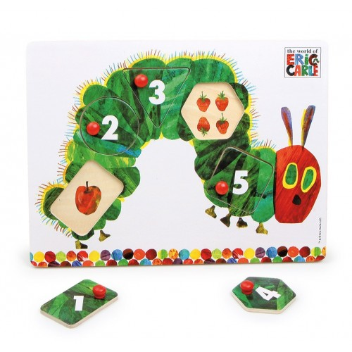 Very Hungry Caterpillar Number Peg Puzzle